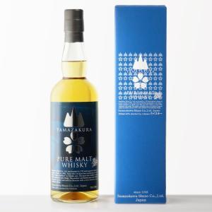 【国産ウイスキー】山桜 ピュアモルトウイスキー 笹の川酒造 48% 700ml|sake-shindobad