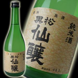 黒松仙醸 純米酒720ml (長野県桜の町・高遠の地酒)|sake