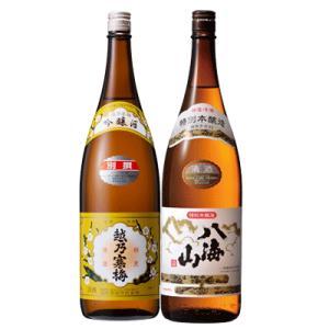 日本酒 飲み比べ 新潟 越乃寒梅 別撰 吟醸 八海山 特別本醸造 1800ml 2本 ギフトボックス入り 数量限定|sakeasanoya