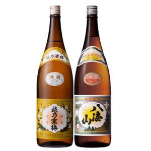 日本酒 飲み比べ 新潟 越乃寒梅 白ラベル 八海山  普通酒 720ml 2本 ギフトボックス入り 数量限定|sakeasanoya