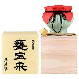 日本酒 新潟 萬寿鏡 大吟醸 甕宝来 (かめほうらい)  1800ml 桐箱入り ひしゃく付|sakeasanoya