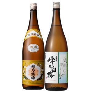 「越乃寒梅 白ラベル 普通酒」と「峰乃白梅 本醸造」の飲み比べです。  「越乃寒梅 白ラベル 普通酒...