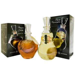 果実の入ったフルーツブランデー マスネ社人気の商品(りんご・洋ナシ)を各1本づつ、2本セットで。  ...