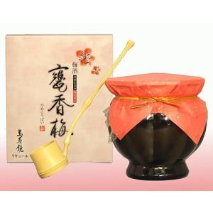 梅酒 甕香梅(かめこうばい)  萬寿鏡 720ml 11度  梅の実入り・柄杓・木ぶた付|sakeclubmitsui