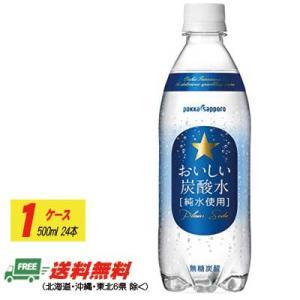 (2ケースで送料無料)サッポロ おいしい炭酸水 500ml×24本 (1)(1ケース)|sakedepotcom