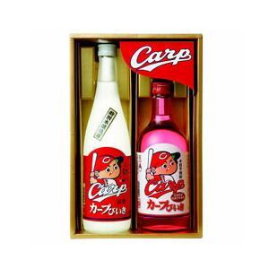 中国醸造 カープびいき ギフトセット CARP-30  (送料無料)|sakedepotcom