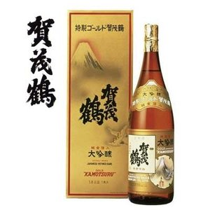 (御中元・お中元・御祝・内祝)広島県 特製 賀茂鶴 ゴールド 大吟醸 1800ml|sakedepotcom