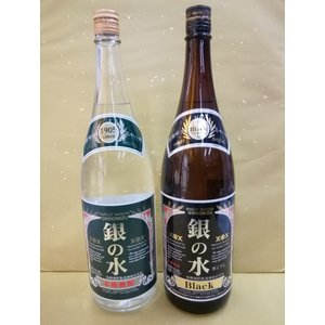 お買い得! 銀の水(白麹)・銀の水 BLACK 1800ml 2本セット|sakehonpotauemon