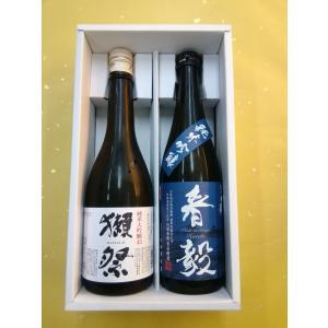 人気日本酒ギフト 獺祭 純米大吟醸45・春毅 純米吟醸 720ml 地酒 プレゼント お誕生日 お祝い|sakehonpotauemon