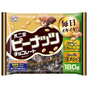 ★アウトレット品★【賞味期限:2021年6月】不二家 ピーナッツチョコレート 180g sakeking