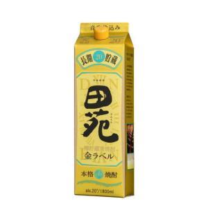 [麦焼酎]12本まで同梱可 20度 田苑 金ラベル【麦】1.8Lパック 1本(1800ml)(ゴールド ラベル) sakemakino
