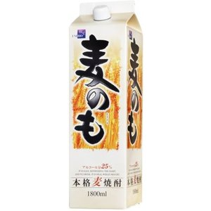 [麦焼酎]12本まで同梱可 25度 本格麦焼酎 麦のも1.8Lパック 1本 (1800ml)相生ユニビオ sakemakino