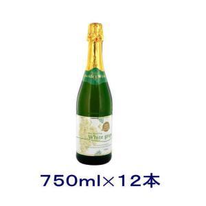 [飲料]送料無料※12本セット 朝日 ホワイトグレープ ノンアルコールスパークリングワイン 750ml瓶 12本(1ケース12本入り)|sakemakino