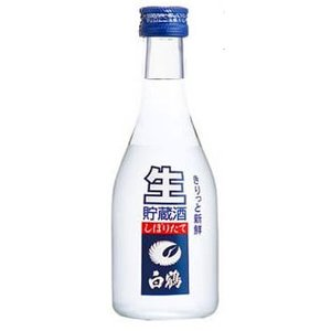 [清酒・日本酒]4ケースまで同梱可 上撰 白鶴 ねじ栓生貯蔵酒 300ml 段ボール箱 1ケース12本入り|sakemakino