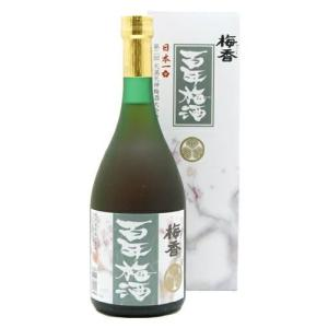 [梅酒]20本まで同梱可 日本一の梅酒 梅香 百年梅酒 720ml(720ml カートン入り 箱付き ひゃくねんうめしゅ メイリ めいり)明利酒類|sakemakino
