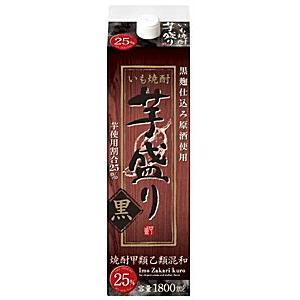 [芋焼酎・甲乙混和]12本まで同梱可 25度 芋盛り 黒 1.8L 1本 合同酒精(1800ml) sakemakino
