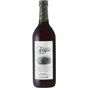 [飲料]24本まで同梱可 カツヌマグレープ(赤)720ml 1本(720ml 勝沼ワイン 勝沼グレープ ノンアルコールワイン ワインテイスト飲料) sakemakino