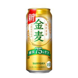 [新ジャンル(雑酒)]2ケースまで同梱可 サントリー 金麦 糖質75%off 500缶(500ml) 1ケース24本入り 白い金麦※|sakemakino