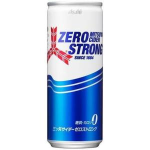 〔飲料〕4ケースまで同梱可☆アサヒ 三ツ矢サイダー NEW☆ゼロストロング 250缶(250ml・250g)1ケース20本入|sakemakino