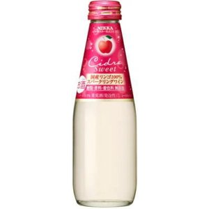 [スパークリングワイン]2ケースまで同梱可 アサヒ ニッカ シードル・スイート 200ml瓶 1ケース24本入り(200ml NIKKA りんご) sakemakino
