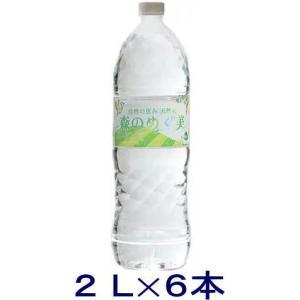 [飲料]2ケースまで同梱可 自然の恵み 天然水 森のめぐ美 2LPET 1ケース6本入り(2000ml 2l 軟水 国内 地下天然水 国産)ビクトリーT|sakemakino