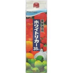 [焼酎甲類]12本まで同梱可 35度 轟醸造 ホワイトリカー 1.8Lパック 1本(1800ml)(果実酒用)(トドロキ醸造)|sakemakino