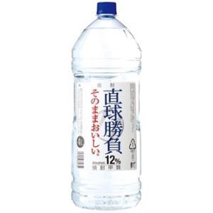 [焼酎甲類]6本まで同梱可 12度 直球勝負 4L 1本 エコペット(4000ml)合同酒精|sakemakino