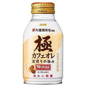 [飲料]3ケースまで同梱可 アサヒ WONDA ワンダ 極 カフェオレ 260gボトル缶 1ケース24本入り(缶コーヒー 260g 300) sakemakino