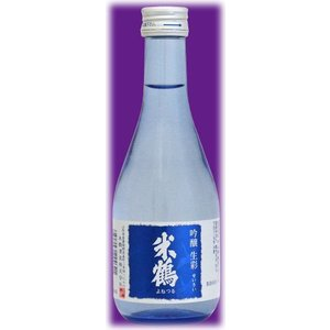 〔清酒・日本酒〕24本まで同梱可☆米鶴 吟醸生彩 300ml瓶 1本 米鶴酒造|sakemakino