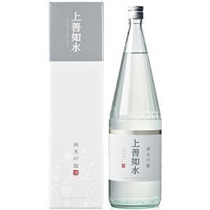 [清酒・日本酒]9本まで同梱可 純米吟醸 上善如水 1.8L瓶 1本 箱付き(1800ml ジョウゼンミズノゴトシ)白瀧酒造|sakemakino