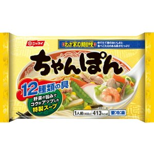 ニッスイ わが家の麺自慢 ちゃんぽん 402g ★冷凍食品以外の商品との混載はできません★