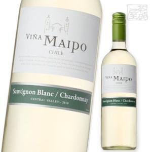 ビニャ・マイポソーヴィニヨン ブラン シャルドネ 750ml 白ワイン やや辛口 チリ|sakenochawanya