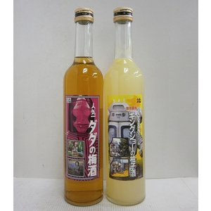 人気一 ウルトラマン基金 梅酒・柚子酒 500ml×2本(各1本ずつ)|sakenochawanya
