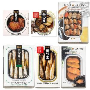 K&K 缶つま 魚介系 6種セット(たこ シャコ ム...
