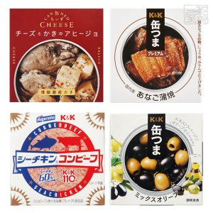 缶つま 缶ちぃず シーチキンコンビーフ 食べ比べ 4種セット A 缶詰 おつまみ|sakenochawanya
