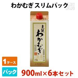 わかむぎ スリムパック 25% 900ml 6本セット 刈干 若麦 高千穂酒造 焼酎 麦|sakenochawanya
