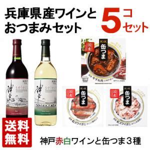 兵庫県産 美味しいワインとおつまみセット 美味セットA 送料無料 ギフト箱入り|sakenochawanya