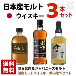 国産モルトウイスキーセット 飲み比べ 3本セット タイプ別 ジャパニーズウイスキー 送料無料|sakenochawanya