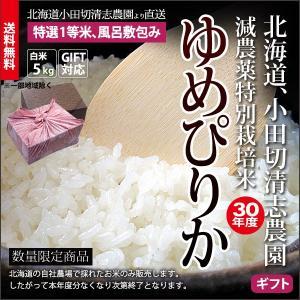 ギフト用 小田切清志農園の ゆめぴりか(風呂敷包み) 5kg (特別栽培米/北海道産) 29年産 新米|sakenosakana