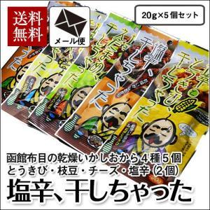 (メール便) 塩辛、干しちゃった 4種セット(5袋) / 布目 北海道 いか お試し 送料無料|sakenosakana
