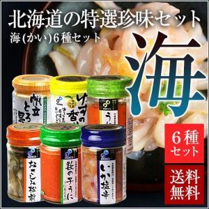 函館布目 北海道の特選珍味セット 海(かい) (瓶詰め珍味6種類セット) お試し 送料無料|sakenosakana