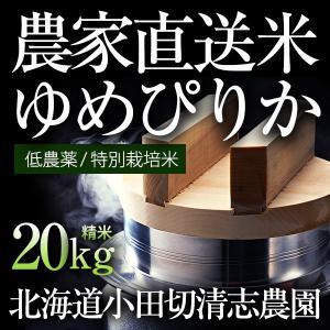 小田切清志農園の ゆめぴりか 20kg (特別栽培米/北海道産) 29年産 新米|sakenosakana