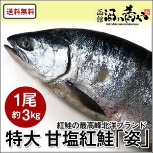 北洋産 甘塩紅鮭 「姿」 超特大サイズ1尾 (約2.8kg) ロシア産 焼き魚 紅鮭 サーモン ギフト 送料無料|sakenosakana