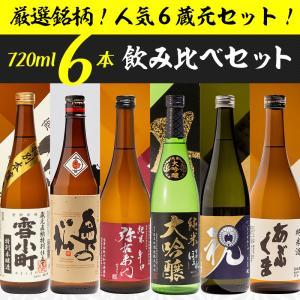 日本酒 晩酌飲み比べセット 櫻家人気の地酒 720ml×6本セット 福島 ふくしまプライド。体感キャンペーン(お酒/飲料)|sakenosakuraya