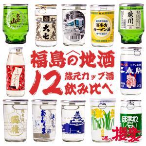 【在庫入替の為】お買い得 訳あり 厳選12蔵元 セットA カップ酒 12本 飲み比べ ワンカップ 日本酒 福島 sakenosakuraya