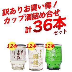 【在庫入替の為】お買い得 訳あり カップ酒 詰め合わせ 36本 飲み比べ ワンカップ 日本酒 福島 sakenosakuraya