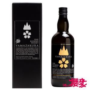 山桜 ブレンデッドウイスキー 黒ラベル 40°700ml/笹の川酒造/ウイスキー