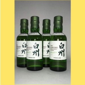 【720mlで700ml瓶より20mlお得!】 サントリー 白州 180ml 4本セット sakenotonda