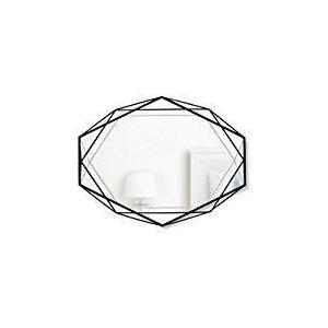 プリズマミラー ブラック 壁掛け ミラー 鏡 おしゃれ ウォールミラー ER web限定 TS|sakoda