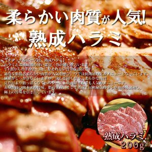 焼肉BBQ あすつく対応 熟成肉 ハラミ タレ付き 味付け不要|saku2
